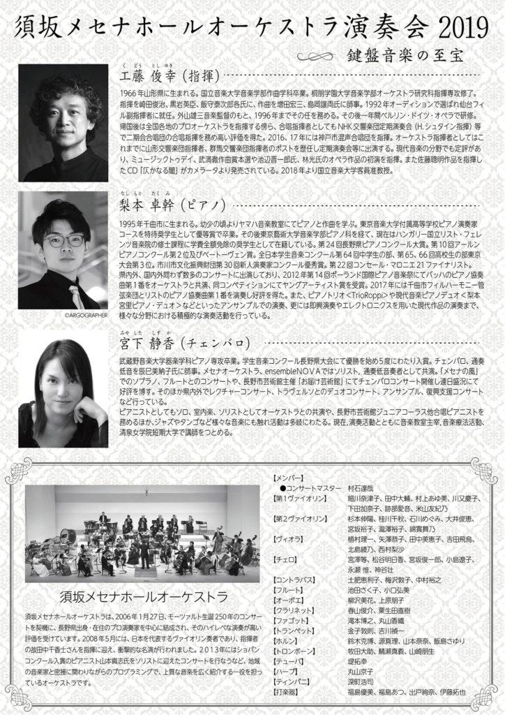 須坂メセナホールオーケストラ演奏会2019裏
