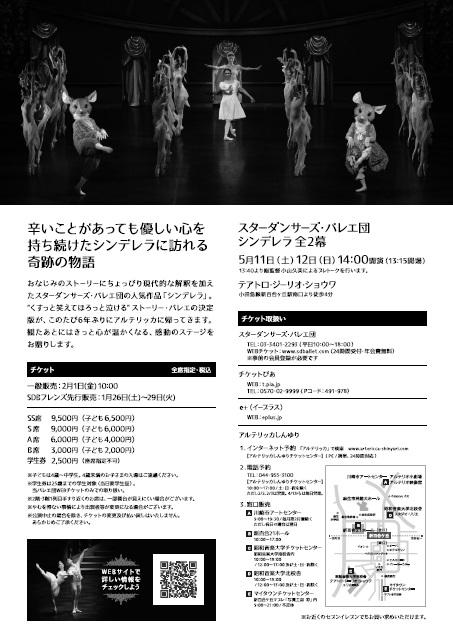 スターダンサーズ・バレエ団公演シンデレラ裏