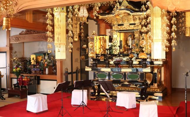 弦楽四重奏 Quartet SISLEY 寺院コンサート演奏